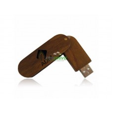 USB Flash Drive Style Wooden Swivel